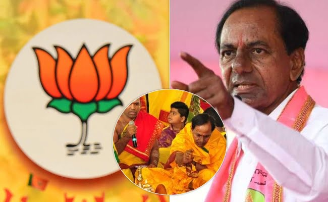 bjp giving shcok to cm kcr in ghmc elections