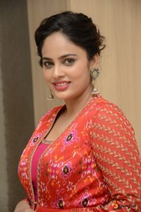 Nandita Swetha Beautiful Red Dress Pictures