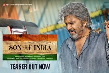 Chiranjeevi voice over Mohan Babu Son Of India teaser is interesting