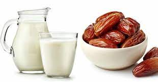 milk and dry dates Energy Drink: health benifits